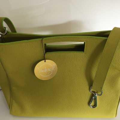 limoen kleurige handtas